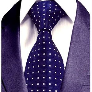 NEW Men's Square dotted Blue Tie